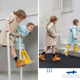 Load image into Gallery viewer, Kids wearing blue and khaki Rainproof Coat