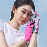 Load image into Gallery viewer, Display of Pink Short Sun-proof Gloves
