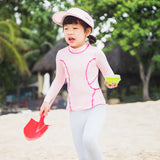 Load image into Gallery viewer, Kid wearing pink Quick-dry Swimwear