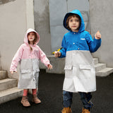Load image into Gallery viewer, Display of Two-tone Rainproof Coat