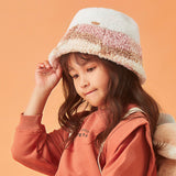 Load image into Gallery viewer, girl in the pink plush bucket hat
