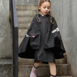 Load image into Gallery viewer, Kid wearing Black False-two Rainproof Coat
