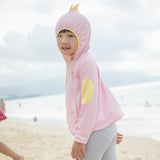 Load image into Gallery viewer, Kid wearing pink Dinosaur Zip-up Hoodie