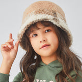 Load image into Gallery viewer, girl wearing brown plush bucket hat