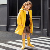 Load image into Gallery viewer, Kid wearing yellow Rainproof Coat