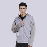 Load image into Gallery viewer, Display of Grey Waterproof Full-zip Hoodie