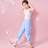 Load image into Gallery viewer, Girl wearing Blue Sun-proof Sport Pants