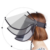 Load image into Gallery viewer, Unisex Adult UV Protection Wide Brim Adjustable Face Sheild Sun Visor  Hat UPF 50+