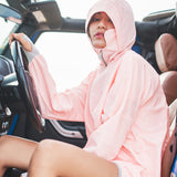 Load image into Gallery viewer, girl wearing pink face cover hoodie