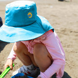 Load image into Gallery viewer, Girl wearing Blue Sun-proof Bucket Hat