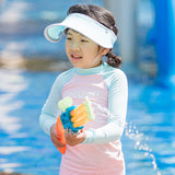 Load image into Gallery viewer, Kid's UV Protection Adjustable Face Sheild Visor Hat UPF 50+