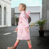 Load image into Gallery viewer, Kid wearing pink Letter-print Raincoats