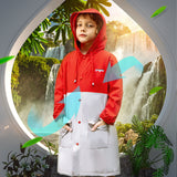 Load image into Gallery viewer, Boy wearing Red Two-tone Rainproof Coat