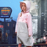 Load image into Gallery viewer, Display of Pink Two-tone Rainproof Coat