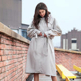 Load image into Gallery viewer, girl in grey windcoat