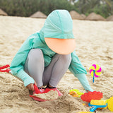 Load image into Gallery viewer, Kid wearing Cyan Full-zip Sun Protective Hoodie