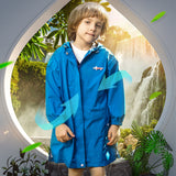 Load image into Gallery viewer, Kid wearing Blue Letter-print Raincoats