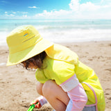 Load image into Gallery viewer, Girl wearing Yellow Logo-print Bucket Hat