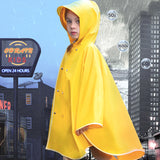 Load image into Gallery viewer, Girl wearing yellow waterproof cloak