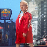 Load image into Gallery viewer, Kid wearing red Letter-print Raincoats
