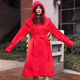 Load image into Gallery viewer, girl in red rain-proof windcoat