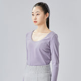 Load image into Gallery viewer, display of blue round neck long sleeve top