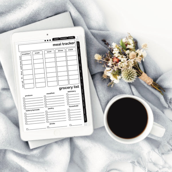 BLACK AND WHITE PORTRAIT DIGITAL PLANNER (DP0012)
