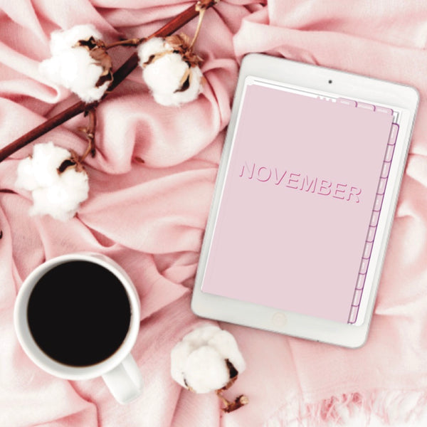 PORTRAIT DIGITAL PLANNER - PINK AND WHITE