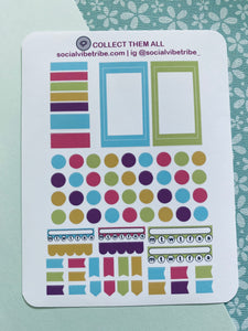 BRIGHT AND BOLD TABS AND DOTS #FSL002