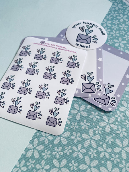 Happy Mail BUNDLE 10 Pack (incl. Thank You Cards, Mailing Cards, Stickers) #HMB001