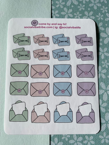 Happy Mail Multi Sticker Sheet (SS049)