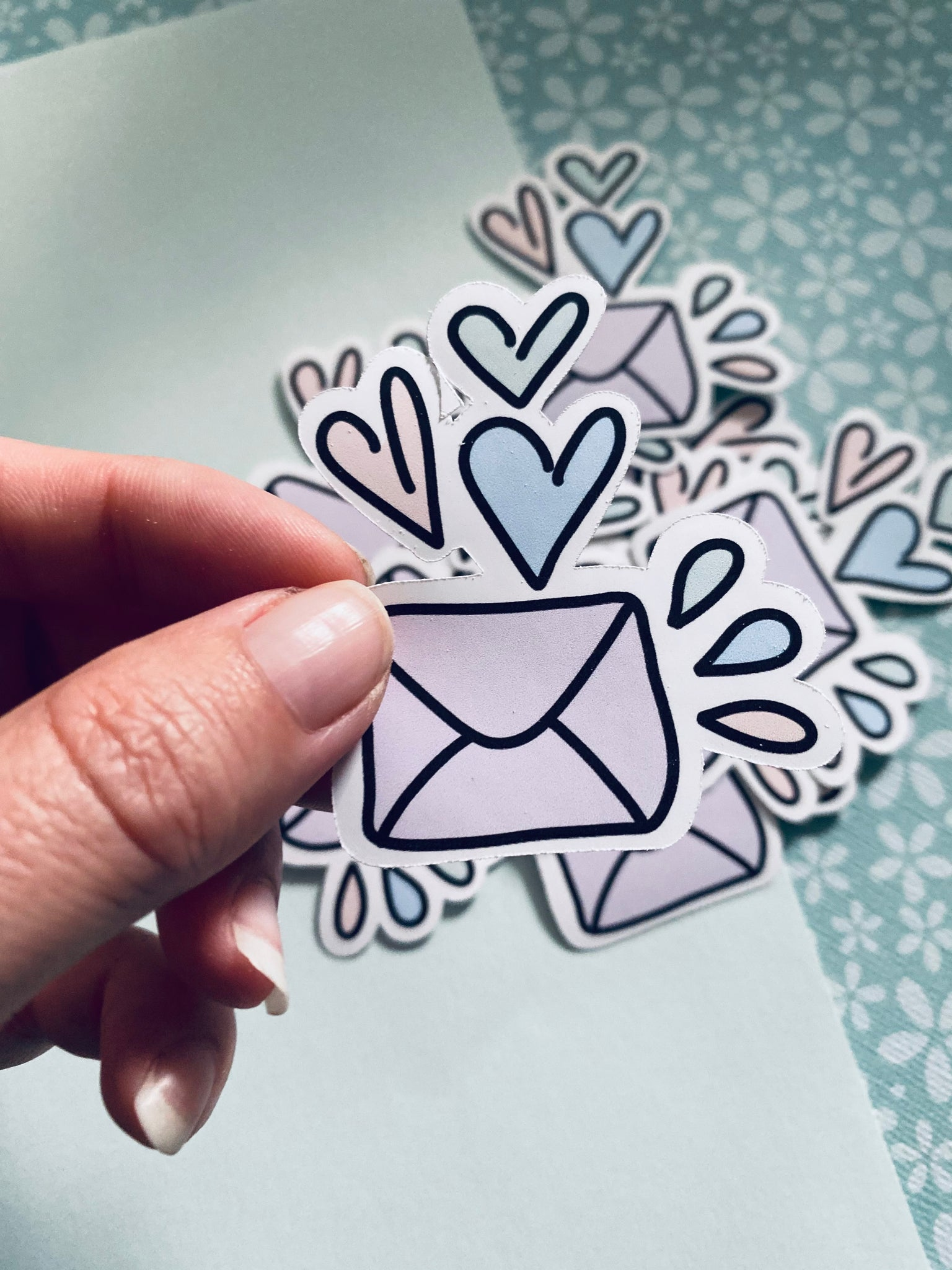 HEART MAIL PASTEL DIE-CUT (10 IN A PACK) #DC004