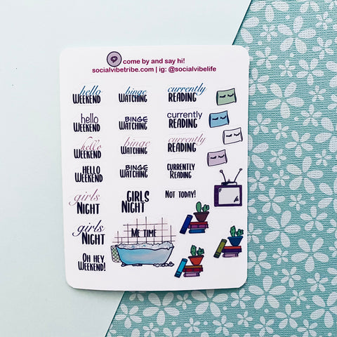 LIFE PLAN STICKER SHEETS (S007)