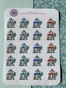 Mortgage Due Sticker Sheet (SS042)