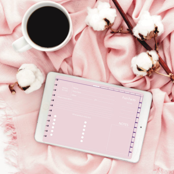 Direct Sales Digital Planner - Pink and White #DP0014