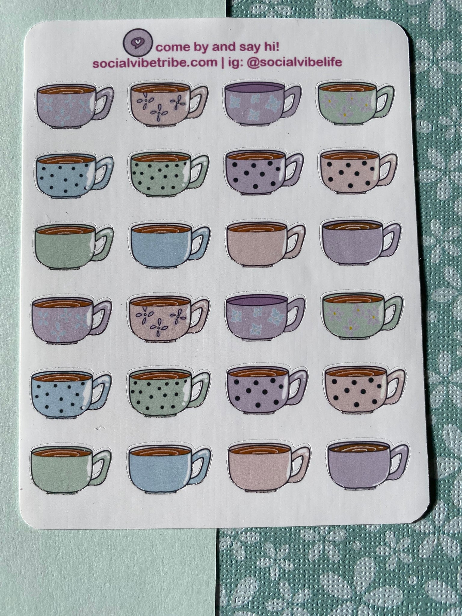 Small Coffee Cup Sticker Sheets (SS047)