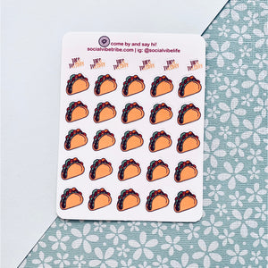 TACO ICON PLANNER STICKER SHEETS (SS008)