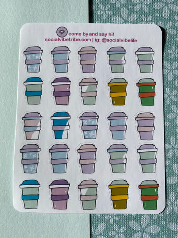 Take Away Coffee Sticker Sheet (SS055)