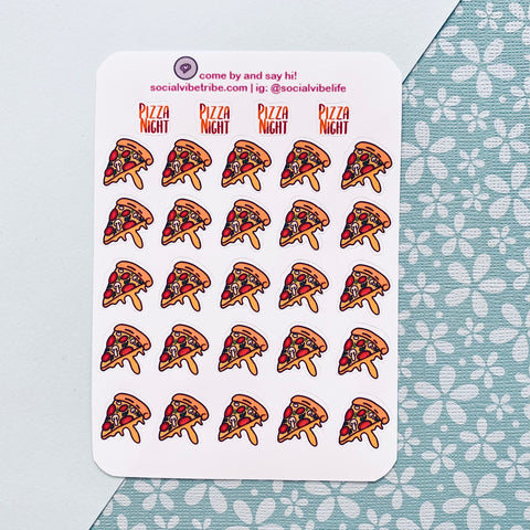 VEGETARIAN PIZZA ICON STICKER SHEET (SS006)
