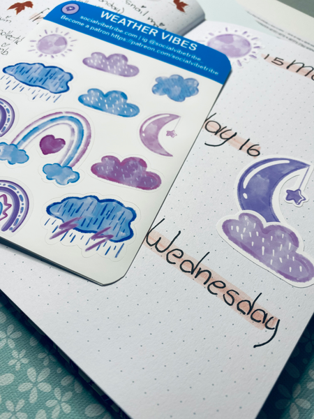 Weather Vibes Sticker Sheet #SS01004