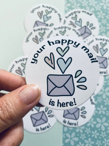 Your Happy Mail (12 pack) Die-Cut Stickers #HM001