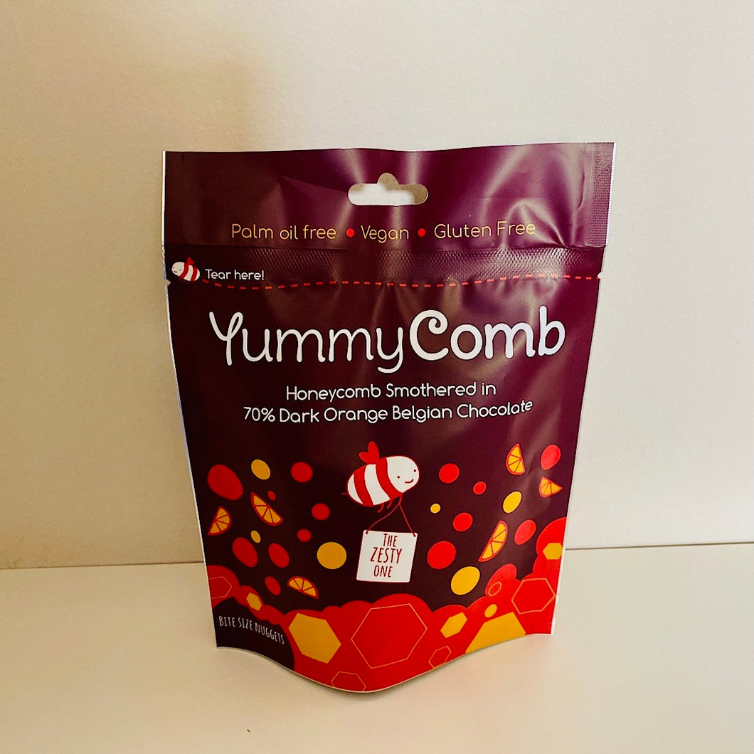 YummyComb 70% Dark Chocolate Orange Honeycomb Pouch