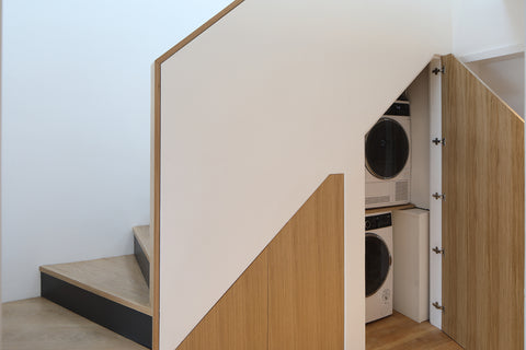 Staircase with utility room