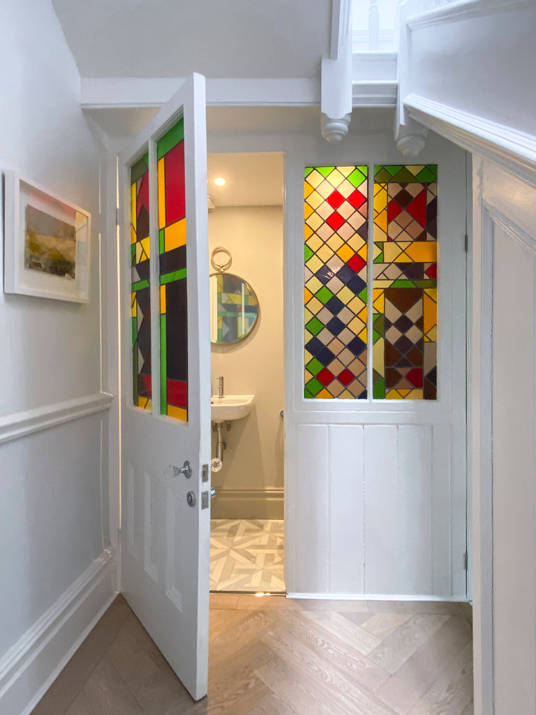 Stained Glass on Understairs Toilet