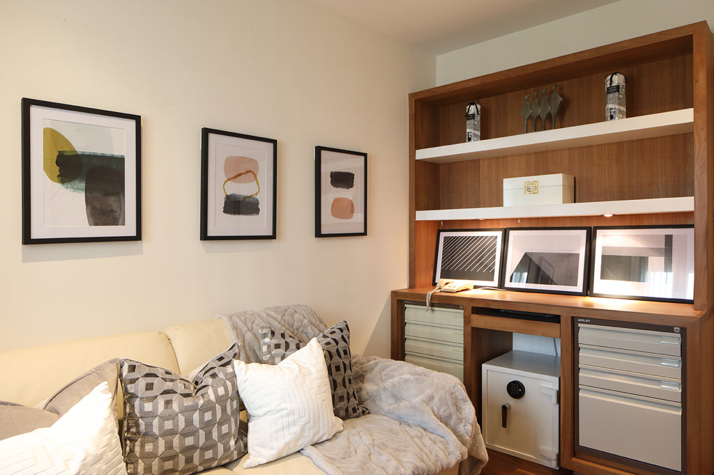Bedroom with home office