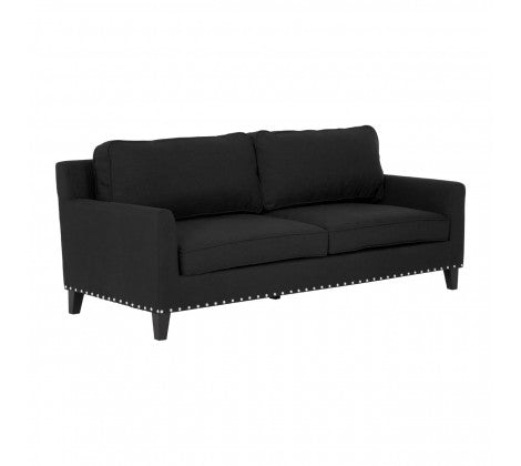 Abbotsleigh Black Contemporary Sofa, 3 Seater
