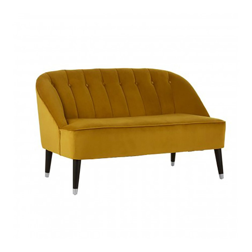 Clifton Mustard Yellow Loveseat