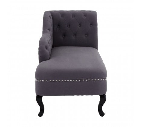 Abbotsleigh Black Linen Chaise Longue