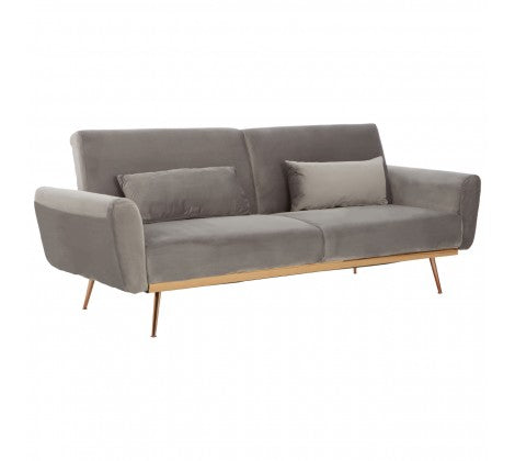 Ashley Grey Velvet Sofa Bed