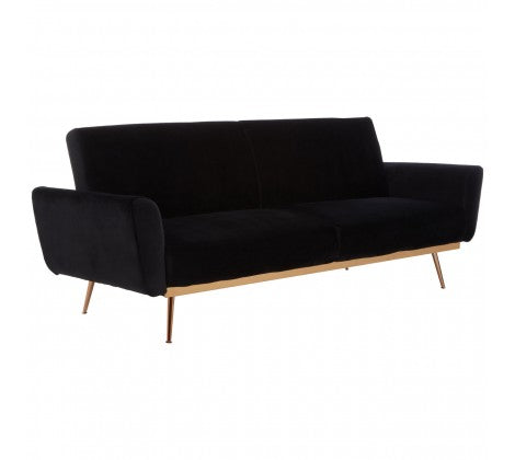 Ashley Black Velvet Sofa Bed